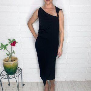 Plein Sud Asymmetrical Stretch Wool Crepe Dress